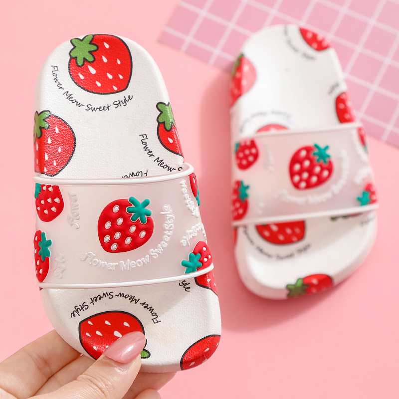 儿童水果凉拖女拖鞋网红时尚同款亲子拖鞋夏居家室外水果凉拖鞋潮