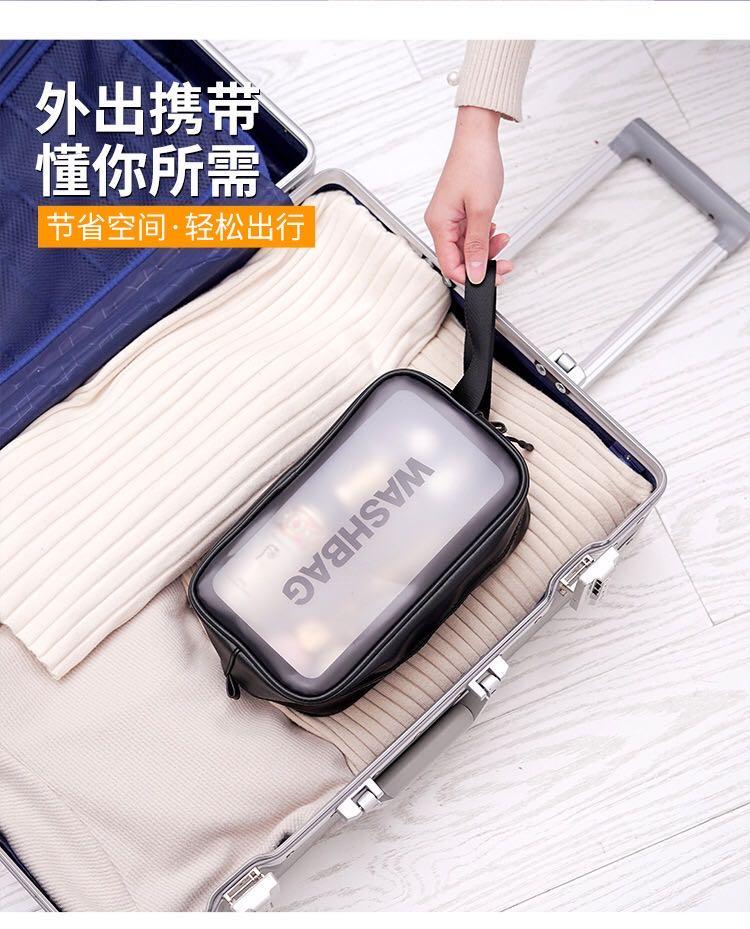 网红化妆包ins大容量便携旅行洗漱包PVC透明化妆(图7)