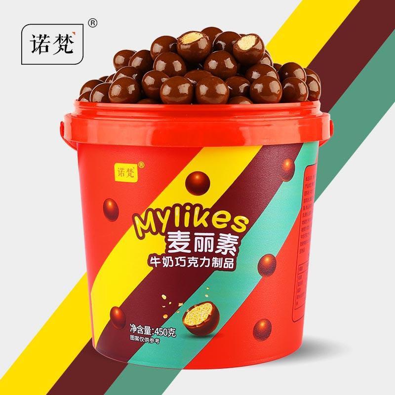 诺梵纯可可脂牛奶口味麦丽素450g