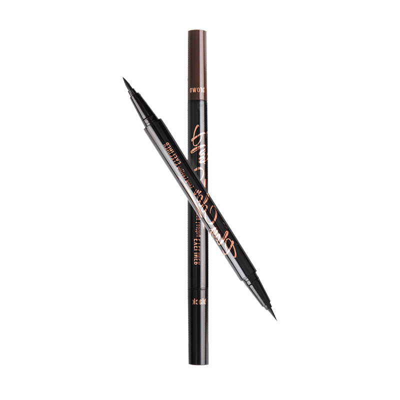 泰国SIVANNA思薇娜双头黑色棕色防水不晕染眼线液笔2.5G