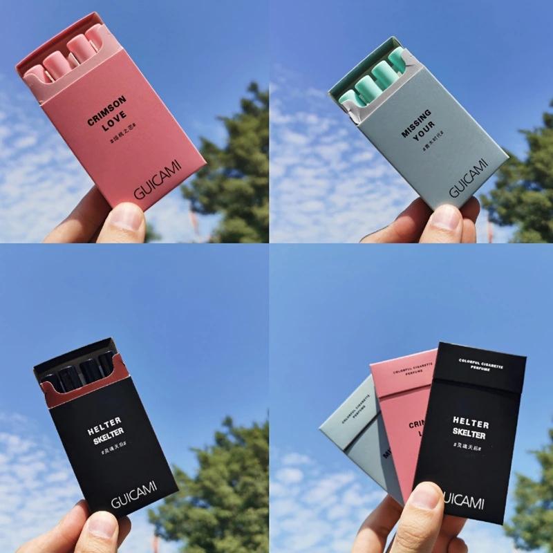 随机发色爆品GUICAMI烟盒烟管香水蓝风铃柏林少女清新持久淡香分装香水4支装
