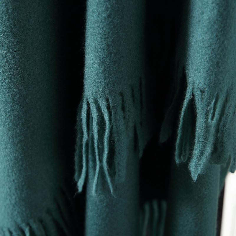 蒙丹米尔围巾女冬季长款韩版女纯色羊毛羊绒围巾保暖披肩(图31)