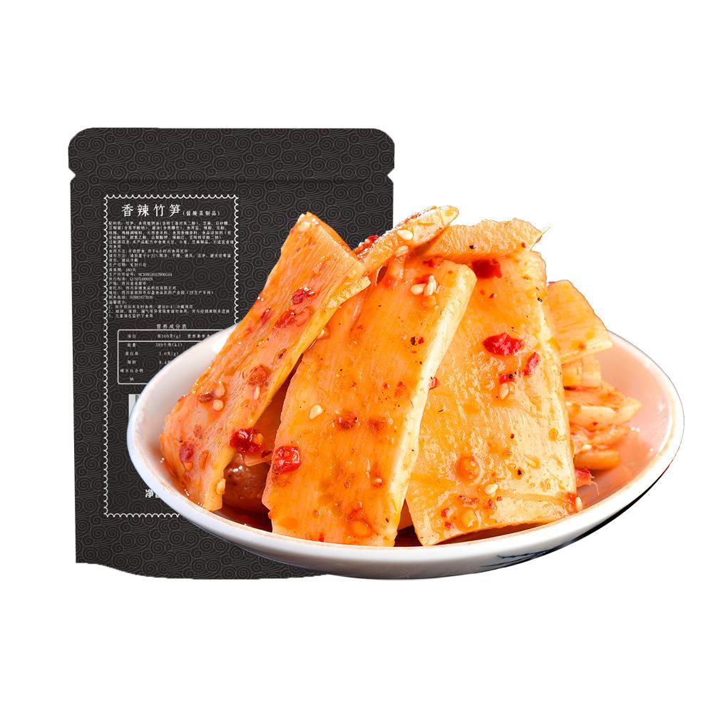 麻辣卤竹笋120g休闲零食四川特产小吃凉拌素菜厂家批发长保真空装