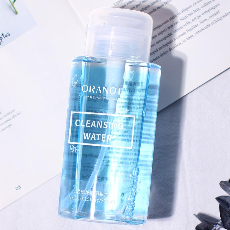 奥兰诺温泉美肌卸妆水按压式温和不刺激脸部眼唇卸妆清洁300ml