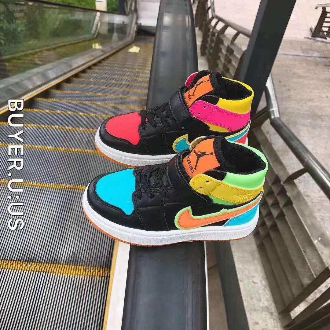 男童鞋子2020新款aj鸳鸯儿童休闲运动鞋鸳鸯女童高帮板鞋