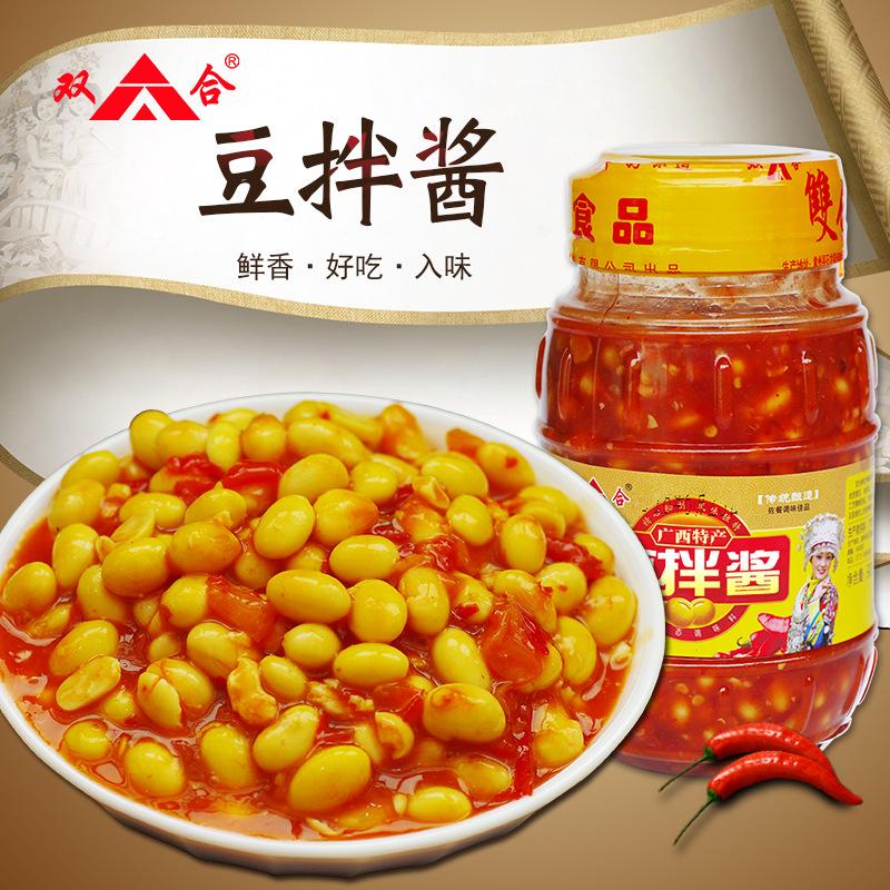 广西特产 双合豆拌酱900g香辣剁椒拌饭拌面下饭调味黄豆酱豆瓣酱